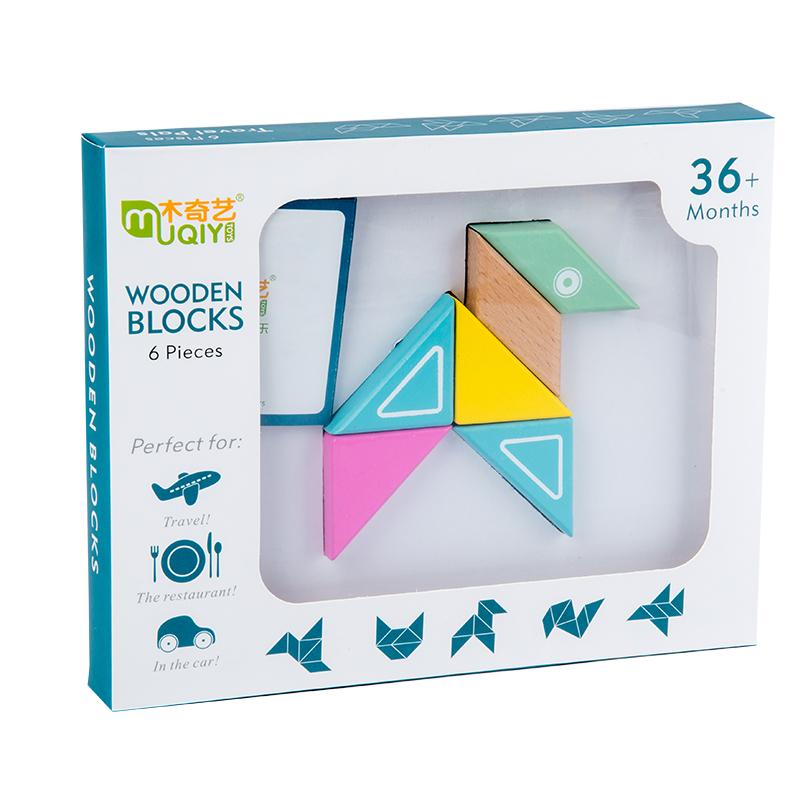 Детская игрушка «сделай сам», магнитные геометрические строительные блоки, деревянные строительные блоки, головоломки, игрушки