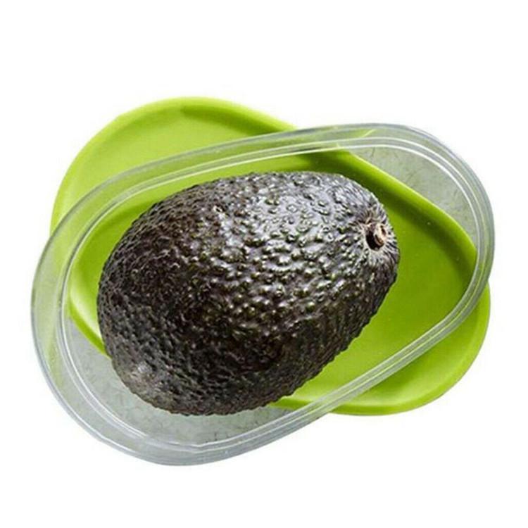 Avocado di Plastica Per Alimenti Scatola di Immagazzinaggio Frigorifero Cripers Cibo Scatola Sigillata Da Cucina Frigorifero Frutta E Verdura Scatola di Fresco Contenitori Per Alimenti