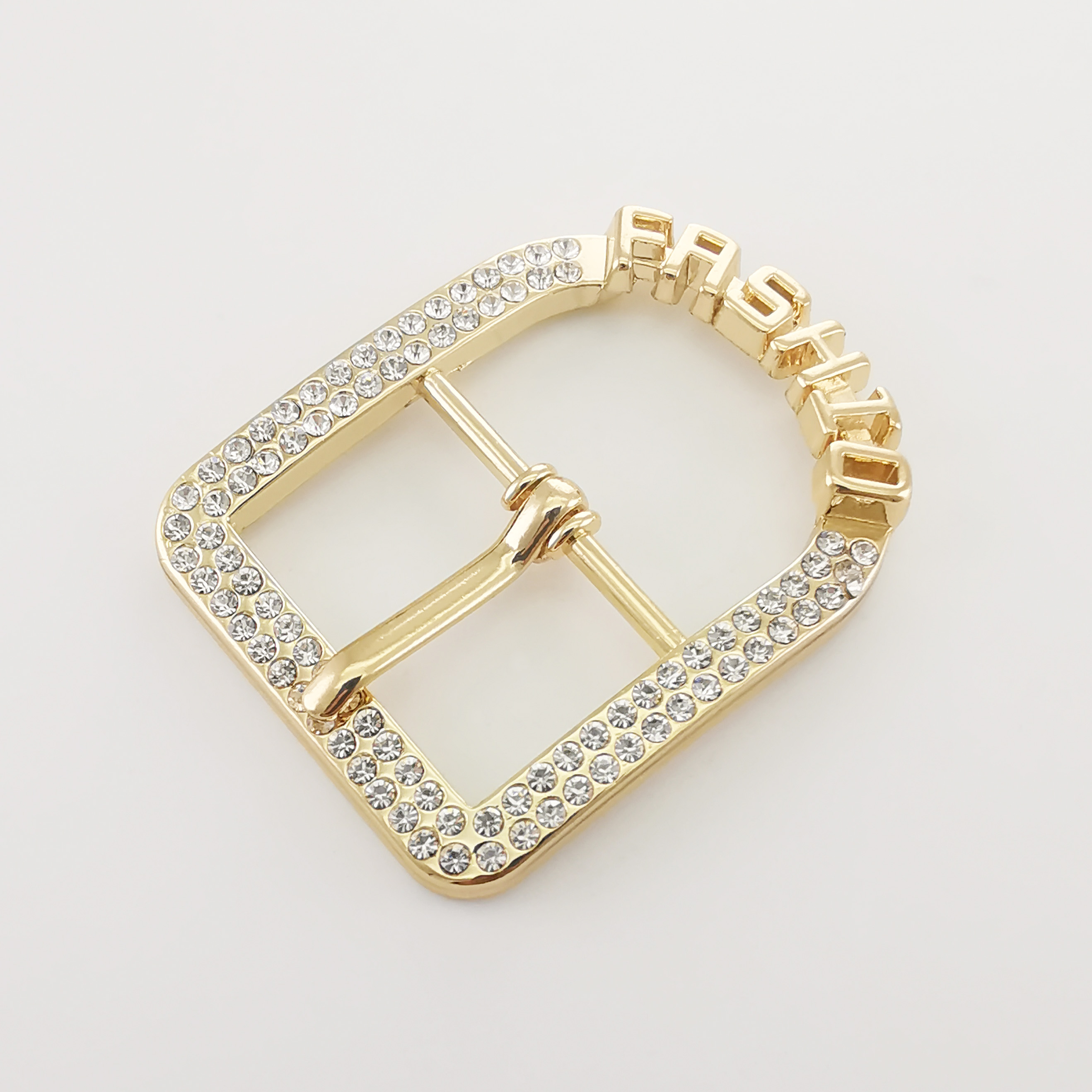 Customized Design High Quality new decorative  shoe metal buckles with hooks accessories components trims