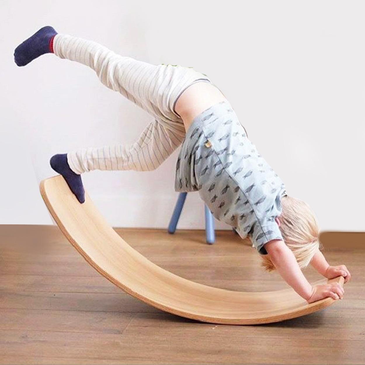Учебные пособия по методике Монтессори, воблеры, изогнутые обучающие игрушки для йоги, детские деревянные балансирующие доски