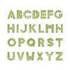 8mm Green color Full rhinestone letters