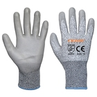 Grey PU coated HPPE high performance cut 5 A4 puncture proof gloves cut resistant