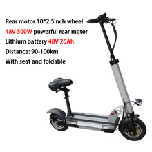 48V 800W электрический скутер 144KM на дальние расстояния 13-36Ah SAMSUNG батарея 10 дюймов Электрический скейтборд тротинет электрика E скутер(Китай)