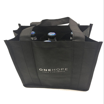 Promotional Cheap 6 bottles nonwoven wine bag