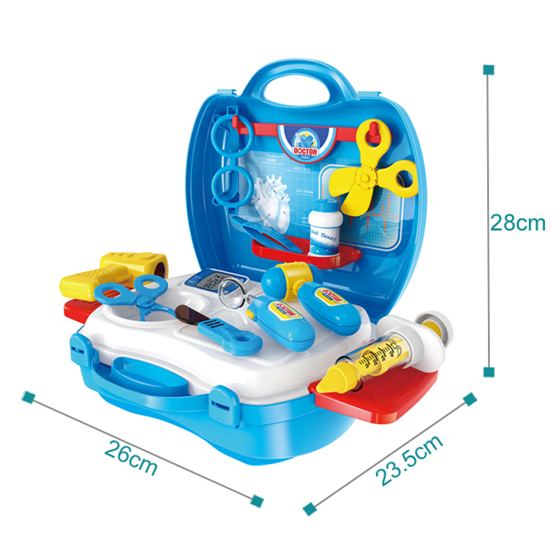 Hot Sale High Quality Educational Doctor Toys Medical Kits Gift 18PCS Medical Hospital Pretend Role Play Set Doctor Kit for Kids