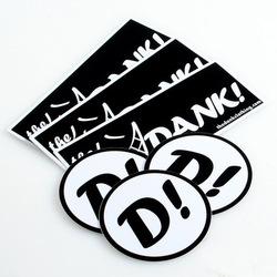 foil logo stickers