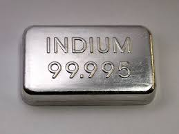 Top Best Quality 99.999% 5N purity Indium Metal ingot Manufactures In China