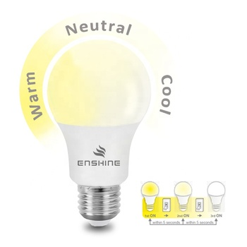 LED factory 7w 9w e27 dimmable LED light bulb A60 3 step dimming day night sensor and motion sensor available