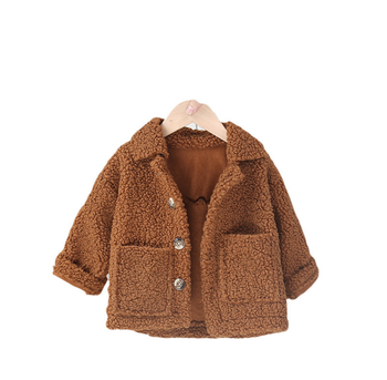 Baby Boys Girls Cotton Clothes Children's Winter Infant Jacket Plush Fur Coat