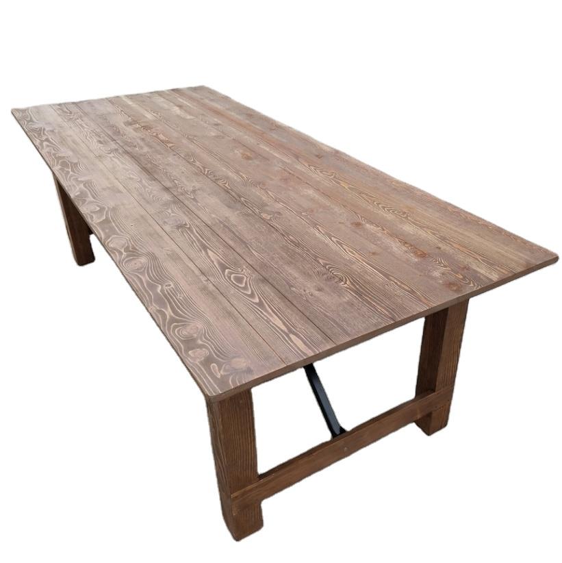 Деревянные из массива дуба старинные фермы обеденный стол для свадьбы/Вечеринки
