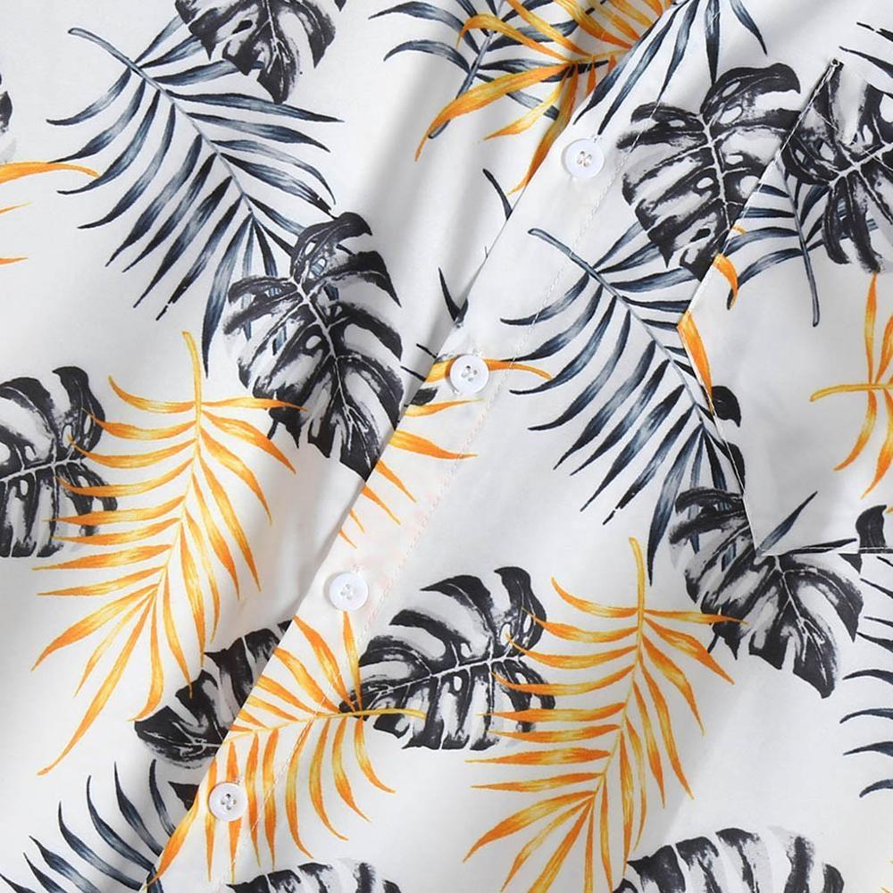 Fashion Mens Vintage Ethnic Printed Turn Down Collar Short Sleeve Loose Casual Rayon Shirts Mens
