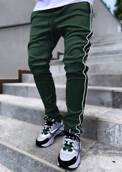 S-3XL  Autumn Cargo Pants Men's popular logo Stretch with zipper side pockets Reflective Straight Sports  jogger track pants men
