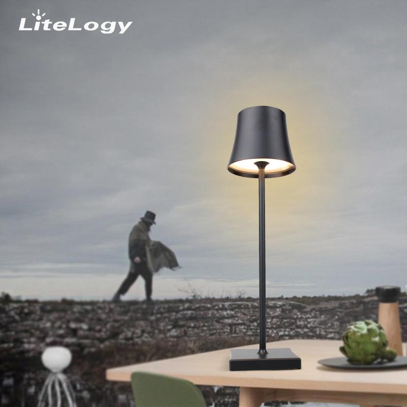 Оптовая продажа с фабрики металлический материал декор столовая Беспроводная настольная лампа ресторан