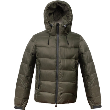 Mens Army Green Men Casual Fashion Quilted Down Jacket Winter Wear Outdoor Coat Foldable Down Jacket With Hood