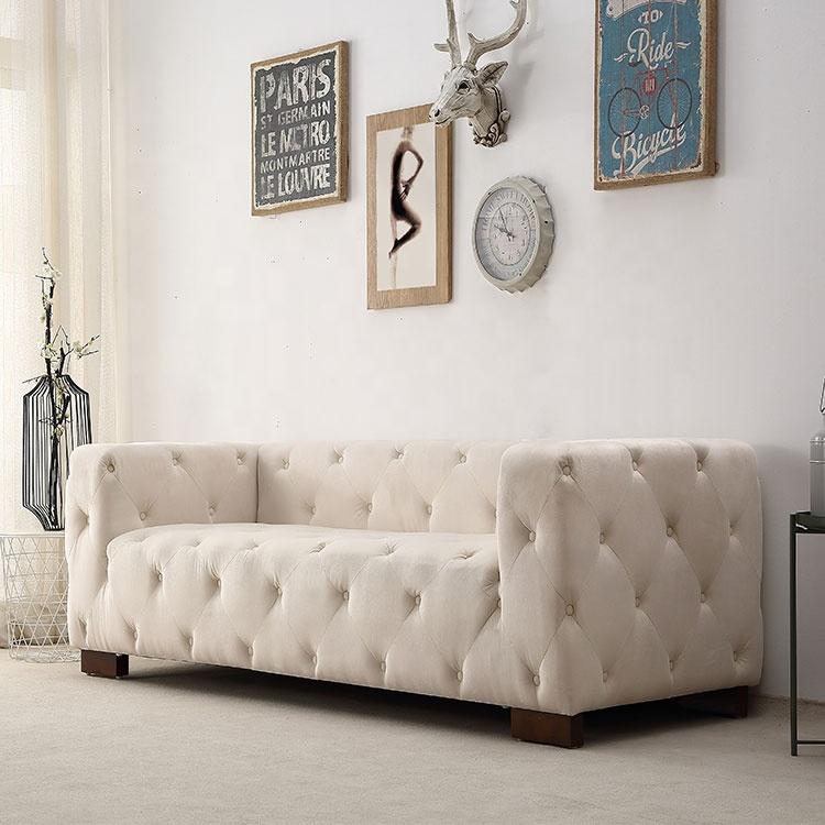 chenille sofa fabric Guandong factory sales wholesale living room sofa set designs italian mixleather fabric sofa
