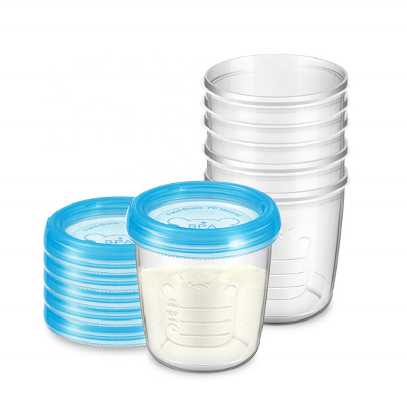 BPA Free Multifunctional 180ml/6oz Plastic Leakproof Baby Food Storage Containers With Lids/Breast Milk Storage Cup