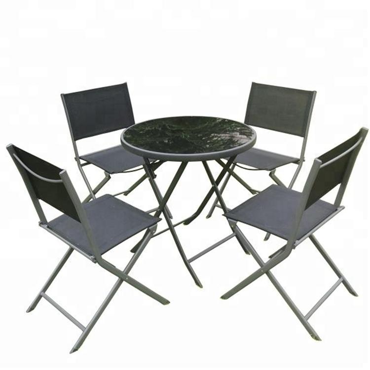 juego de mesa y silla plegables rectangulares de acero para jardin rlf 00012t 8 promocion de patio 7 uds buy mesa y silla mesa y silla walmart