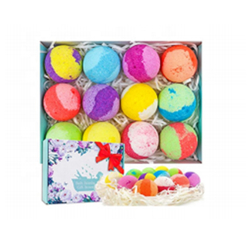 OEM Gift Kit Rich Bubble fragrance Natural Organic Fizzy Spa Bath Ball Bombs Set