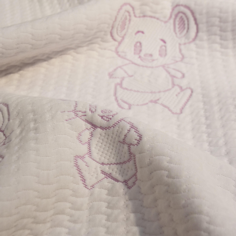 100% полиэстер, китайский чехол для кровати, Детская мышка, мультяшная ткань, трикотажный матрас