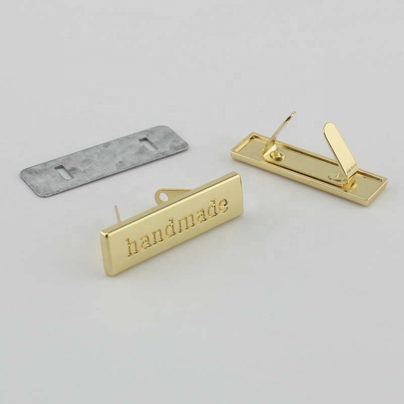 Nolvo World 36*10mm Customized Handmade Metal Letters Label,Sewing Metal Label Name Decorative Labels