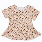 Children's Design Children Boutique Children's Wear Girl Flower Dress Summer Ruffle Print Design Boutique Children's Wear