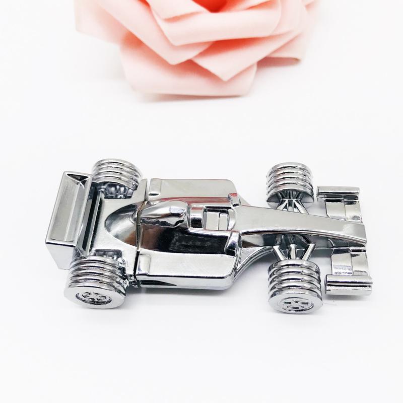Silver promotional gift customized logo printing F1 racing car shape usb thumb drive - USBSKY | USBSKY.NET