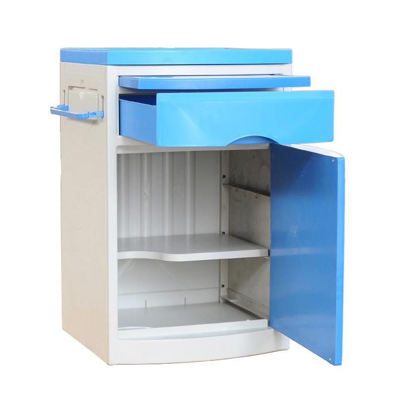 Medical Hospital furniture ABS plastic hospital bedside cabinet For Patient