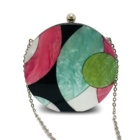 Acrylic geometric bump color round clutch ladies hand bag sling beautiful bags crossbody luxury acrylic evening clutches