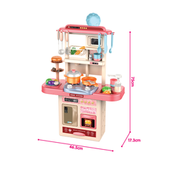 With Realistic Lights Children Cooking Educational Toys Large Simulation Kitchen Toys With Sound For Kids Toys
