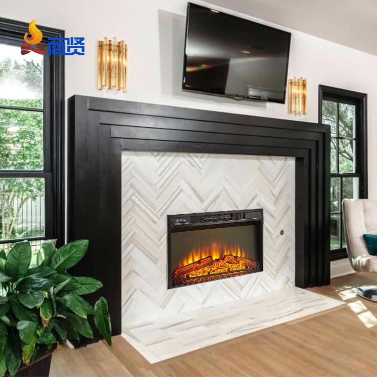 Современный домашний декоративный электрический камин с эффектом пламени и дистанционным управлением