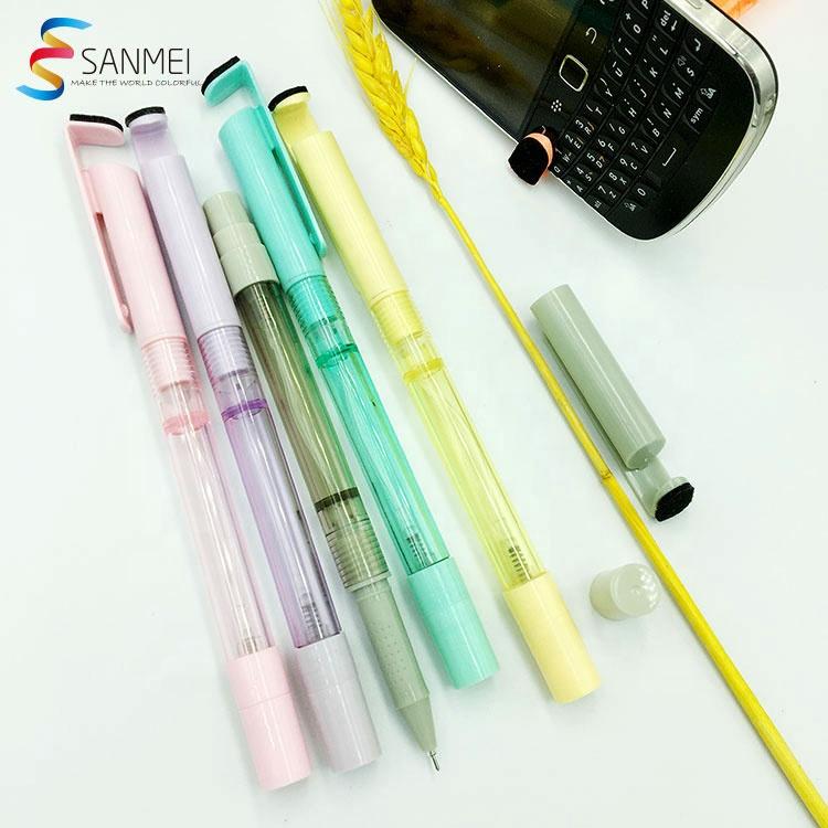 Держатель для телефона 4 в 1, очиститель экрана, дезинфицирующая гелевая ручка с шариковой ручкой-распылителем