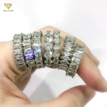 New fashion foxi jewelry rings rectangle cubic zircon 925 Sterling Silver Rings Jewelry gold plated rings