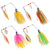 Cheap price 15.5g custom silicone skirt wholesale metal spoon fish lure , 2 spinner lure for fishing