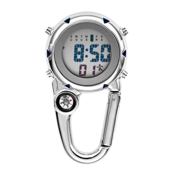 Digital Nurse Watch 2021 Customized Electronic Carabiner Clip Luminous Multi-function Clock Outdoor Hospital Gift FOB Watch
