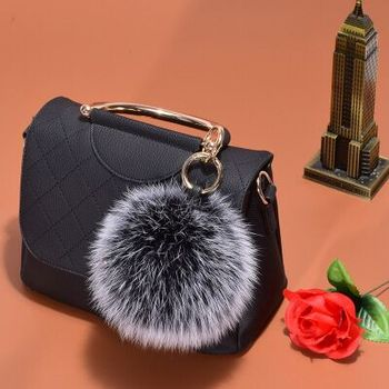 Cute fashion detachable fur decoration fox fur pom pom accessories