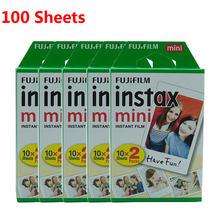 10-100 листов Fujifilm Instax Mini Film White edge 10 20 40 60 80 100 листов FUJI Instant instax mini 8 9 пленка для камеры(Китай)