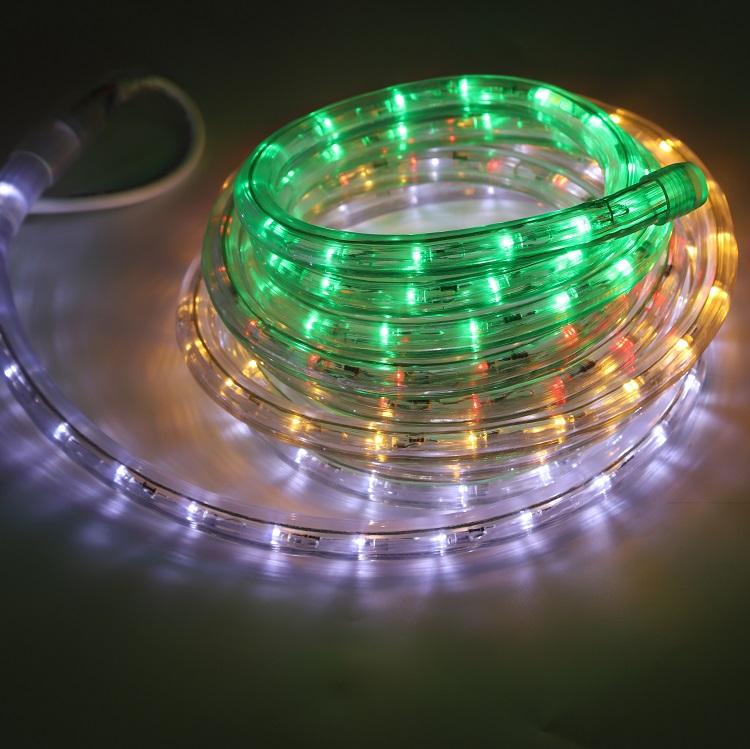 Рождественская уличная веревочная трубчатая лампа 100 м, светодиодная веревочная лампа из ПВХ