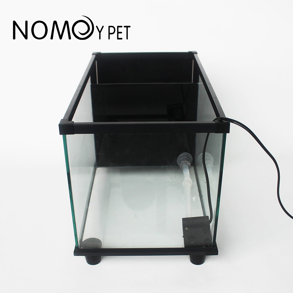 NOMOY AQUARIUM 2020 new clear glass turtle tank with filter fish tank with swamp tank Paludarium with accessories NX-24