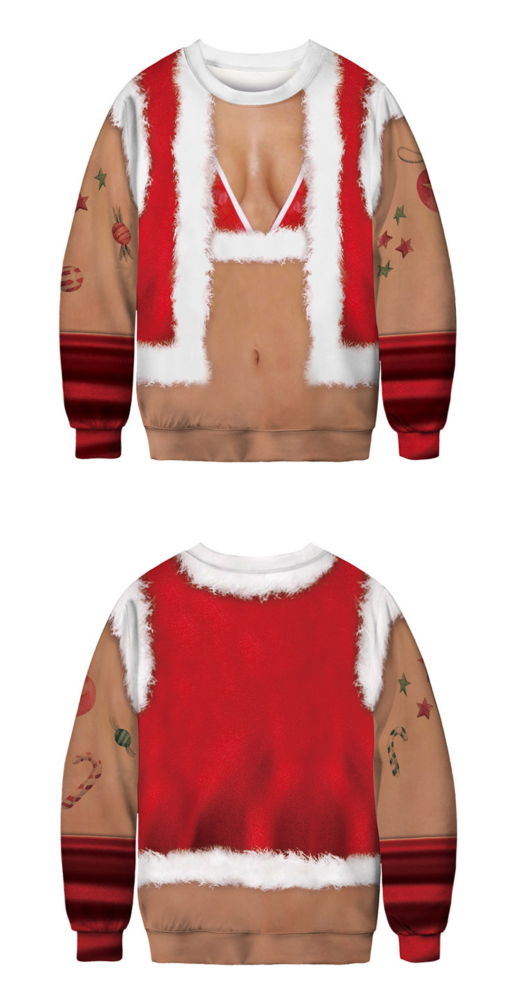 Factory Price Loose 3D Digital Print Ugly Sweater Christmas