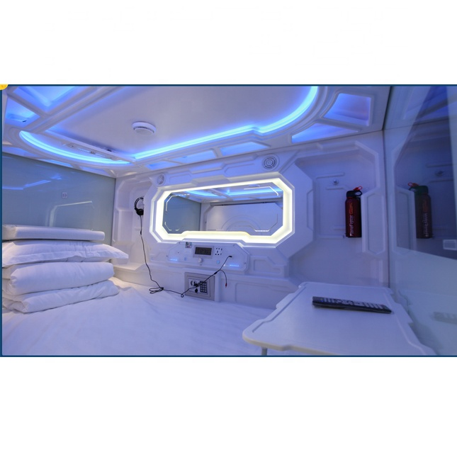 OEM vacuum formed soundproof capsule hotel hunk bed sleeping box