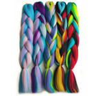 "Pervado Hair New Blend Candy Color 24"" 100g Jumbo Braiding Hair Extensions Wholesale Crochet Pre-stretch Braids Bulk"