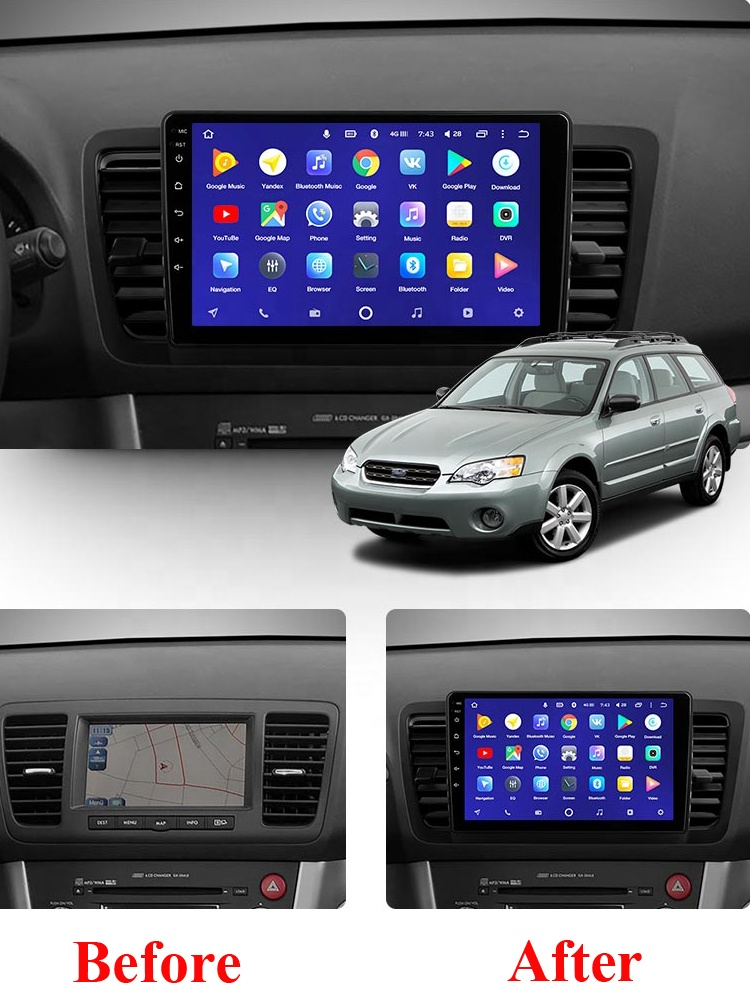 For Subaru Outback 3 Legacy 4 2004 2005 2006 2007 2008 2009 2din Car Radio Multimedia Video Player Navigation GPS Android 8.1