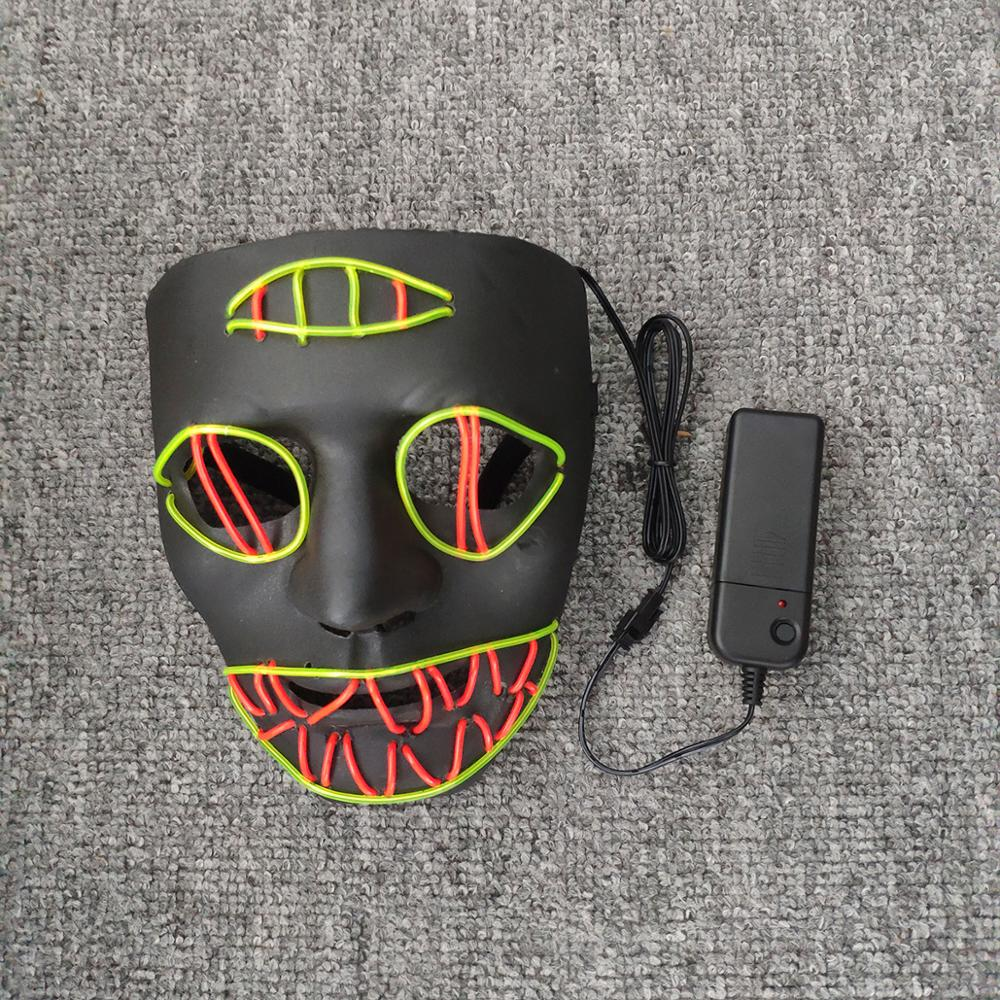 2019 High-quality Hot-selling Halloween LED masks Terrible and dazzling patterns of light