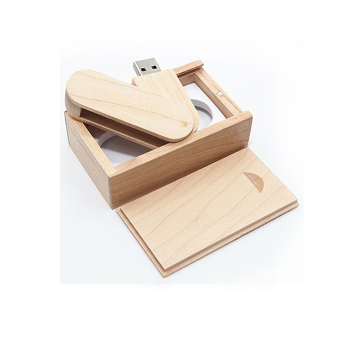 Natural Swivel Walnut Wooden USB Stick 2GB 4GB 8GB 16GB 3.0 With Customised Logo Engraved - USBSKY | USBSKY.NET