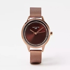 Analog Watch Simple Analog Stainless Steel Mesh Women's Watch