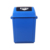 40L pedal hotel push-lid lobby airport outdoor waste plastic dust bin  with lid