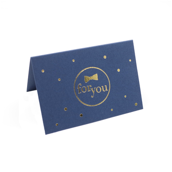 Gold foil Mini Greeting Card Custom Paper Printing Post Cards with envelope