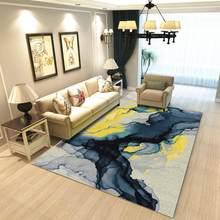 Ковер для гостиной в скандинавском Европейском стиле, большой моющийся ковер для спальни с геометрическим дизайном, ретро-коврики(Китай)