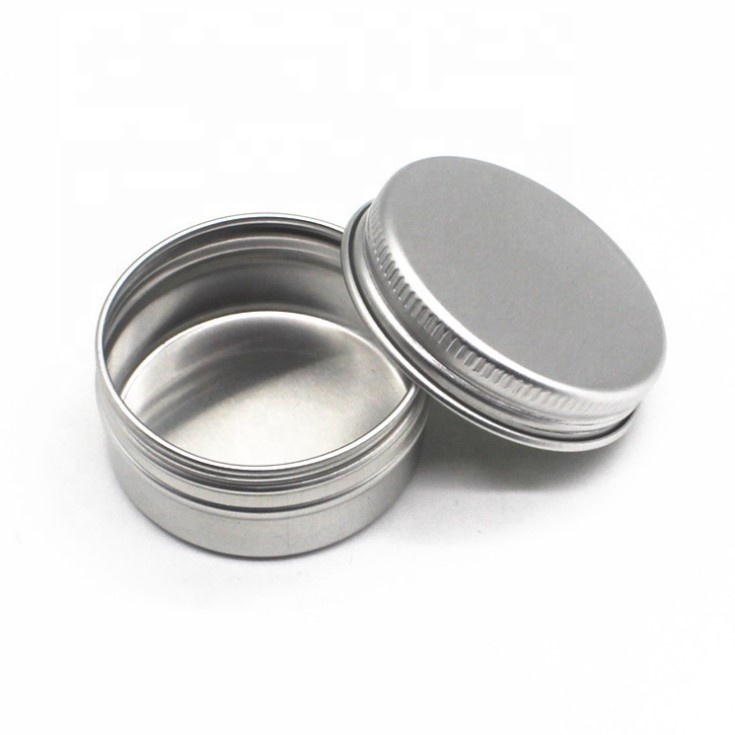 wholesale 1oz 30ml 2oz silver soap cans food grade aluminum jar