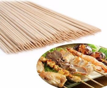 Disposable Long Barbecue Sticks Round Bamboo Kebab Skewers